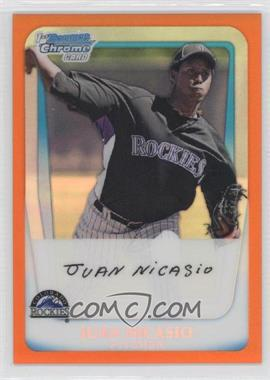 2011 Bowman - Chrome Prospects - Orange Refractor #BCP46 - Juan Nicasio /25