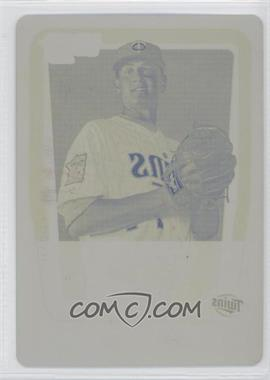 2011 Bowman - Chrome Prospects - Printing Plate Yellow #BCP158 - Dave Bromberg /1