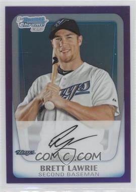 2011 Bowman - Chrome Prospects - Purple Refractor #BCP175 - Brett Lawrie /799