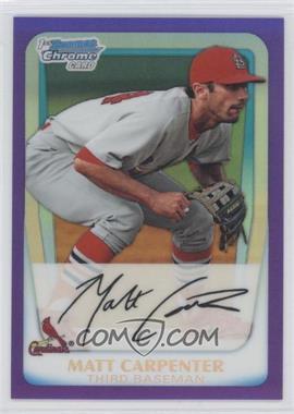 2011 Bowman - Chrome Prospects - Purple Refractor #BCP66 - Matt Carpenter