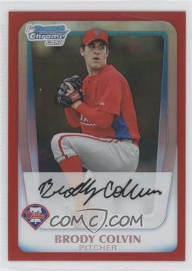 2011 Bowman - Chrome Prospects - Red Refractor #BCP162 - Brody Colvin /5