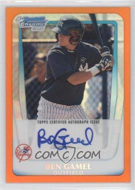 2011 Bowman - Chrome Prospects Autograph - Orange Refractor #BCP104 - Ben Gamel /25