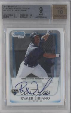 2011 Bowman - Chrome Prospects Autograph #BCP101 - Rymer Liriano [BGS9]