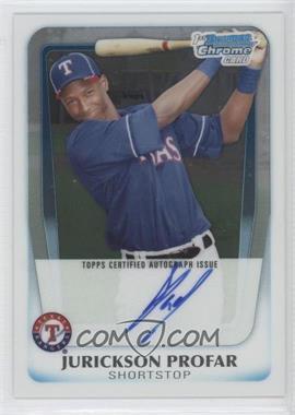 2011 Bowman - Chrome Prospects Autograph #BCP82 - Jurickson Profar