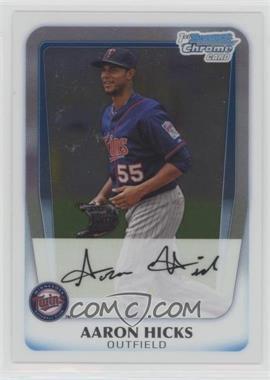 2011 Bowman - Chrome Prospects #BCP172 - Aaron Hicks