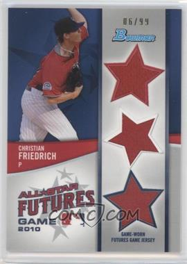 2011 Bowman - Future's Game Triple Relics #FGTR-CF - Christian Friedrich /99