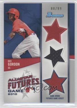 2011 Bowman - Future's Game Triple Relics #FGTR-DG - Dee Gordon /99