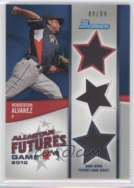 2011 Bowman - Future's Game Triple Relics #FGTR-HA - Henderson Alvarez /99
