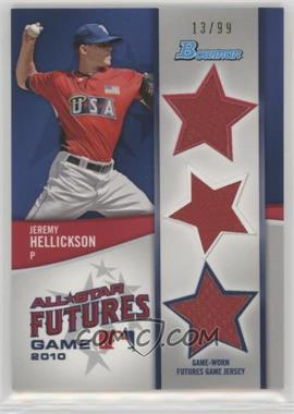 2011 Bowman - Future's Game Triple Relics #FGTR-JH - Jeremy Hellickson /99