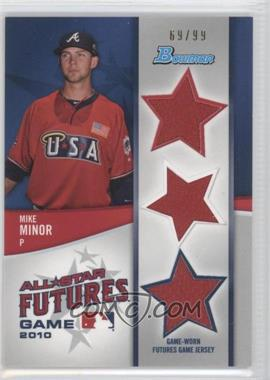 2011 Bowman - Future's Game Triple Relics #FGTR-MM - Mike Minor /99