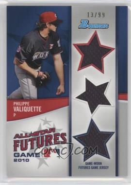 2011 Bowman - Future's Game Triple Relics #FGTR-PV - Philippe Valiquette /99