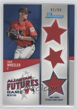 2011 Bowman - Future's Game Triple Relics #FGTR-ZW - Zack Wheeler /99