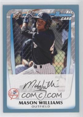 2011 Bowman - Prospects - Blue #BP85 - Mason Williams /500