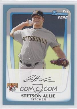 2011 Bowman - Prospects - Blue #BP86 - Stetson Allie /500