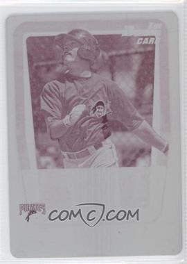 2011 Bowman - Prospects - Printing Plate Magenta #BP55 - David Rubinstein /1