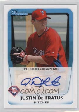 2011 Bowman - Prospects Autograph #BPA-JD - Justin De Fratus