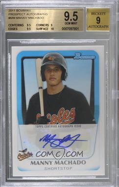 2011 Bowman - Prospects Autograph #BPA-MM - Manny Machado [BGS9.5GEMMINT]