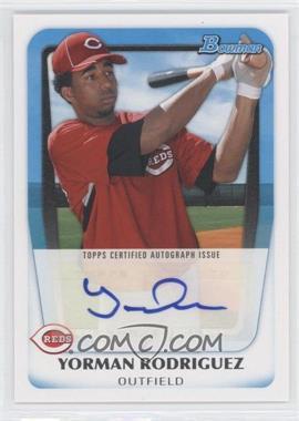 2011 Bowman - Prospects Autograph #BPA-YR - Yorman Rodriguez