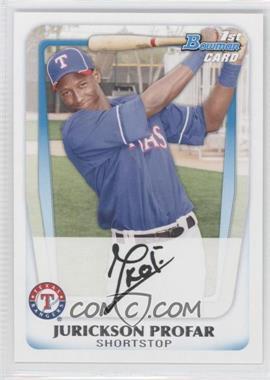 2011 Bowman - Prospects #BP82 - Jurickson Profar