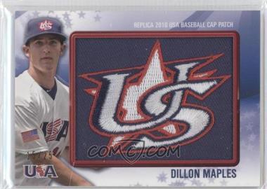 2011 Bowman - Replica 2010 USA Baseball Patch #USA-10 - Dillon Maples /25