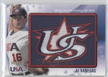 2011 Bowman - Replica 2010 USA Baseball Patch #USA-20 - A.J. Vanegas /25