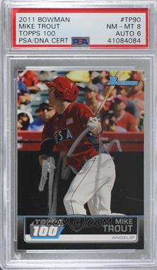 2011 Bowman - Topps 100 #TP90 - Mike Trout [PSA/DNA Certified Encased]