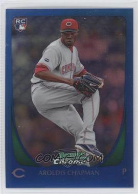 2011 Bowman Chrome - [Base] - Blue Refractor #177 - Aroldis Chapman /150