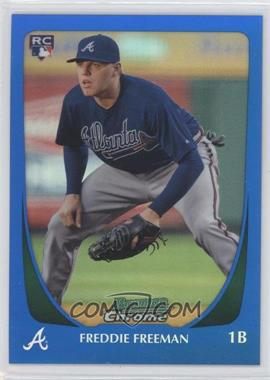 2011 Bowman Chrome - [Base] - Blue Refractor #185 - Freddie Freeman /150