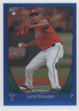 2011 Bowman Chrome - [Base] - Blue Refractor #206 - Alexi Ogando /150