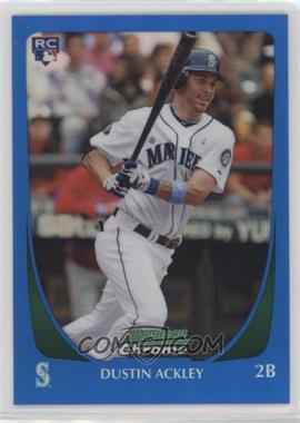 2011 Bowman Chrome - [Base] - Blue Refractor #212 - Dustin Ackley /150