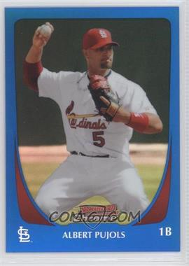 2011 Bowman Chrome - [Base] - Blue Refractor #5 - Albert Pujols /150