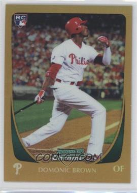 2011 Bowman Chrome - [Base] - Gold Refractor #12 - Domonic Brown /50