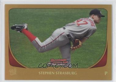 2011 Bowman Chrome - [Base] - Gold Refractor #159 - Stephen Strasburg /50