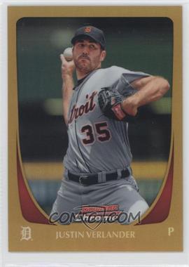 2011 Bowman Chrome - [Base] - Gold Refractor #37 - Justin Verlander /50