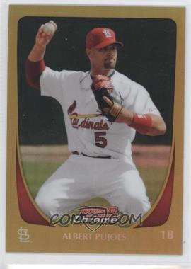 2011 Bowman Chrome - [Base] - Gold Refractor #5 - Albert Pujols /50