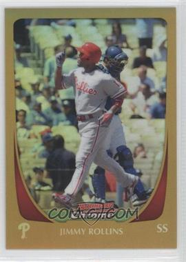 2011 Bowman Chrome - [Base] - Gold Refractor #66 - Jimmy Rollins /50