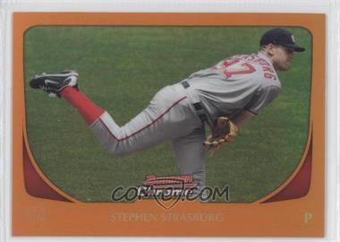 2011 Bowman Chrome - [Base] - Orange Refractor #159 - Stephen Strasburg /25