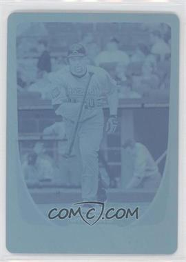 2011 Bowman Chrome - [Base] - Printing Plate Cyan #29 - Carlos Lee /1
