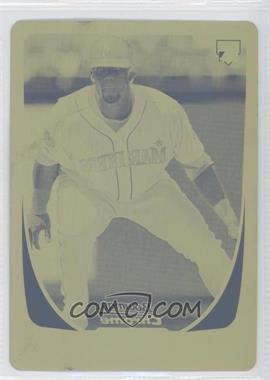 2011 Bowman Chrome - [Base] - Printing Plate Yellow #213 - Carlos Peguero /1