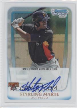 2011 Bowman Chrome - Prospects Autograph - Refractor #BCP178 - Starling Marte /500