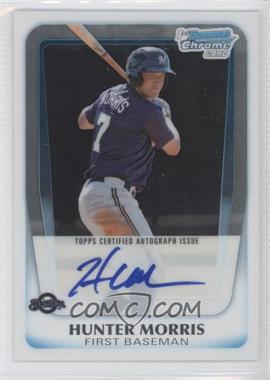 2011 Bowman Chrome - Prospects Autograph #BCP130 - Hunter Morris