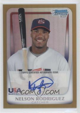 2011 Bowman Chrome - USA 18U National Team Autograph Refractor - Gold #18U-19 - Nelson Rodriguez /50