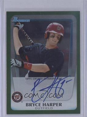 2011 Bowman Draft Picks & Prospects - Bryce Harper Autographs - Green [Autographed] #BPA-BH - Bryce Harper /350
