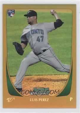 2011 Bowman Draft Picks & Prospects - Chrome - Gold Refractor #69 - Luis Perez /50