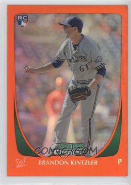 2011 Bowman Draft Picks & Prospects - Chrome - Orange Refractor #54 - Brandon Kintzler /25