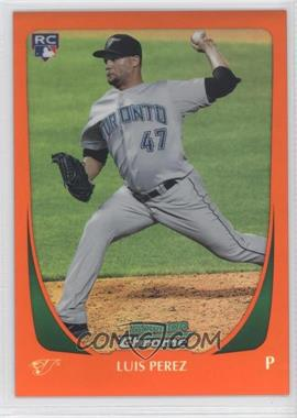 2011 Bowman Draft Picks & Prospects - Chrome - Orange Refractor #69 - Luis Perez /25