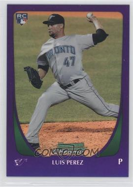 2011 Bowman Draft Picks & Prospects - Chrome - Retail Purple Refractor #69 - Luis Perez