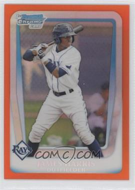 2011 Bowman Draft Picks & Prospects - Chrome Draft Picks - Orange Refractor #BDPP40 - James Harris /25