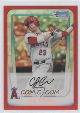 2011 Bowman Draft Picks & Prospects - Chrome Draft Picks - Red Refractor #BDPP25 - C.J. Cron /5