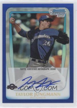2011 Bowman Draft Picks & Prospects - Chrome Prospects Autograph - Blue Refractor #BCAP-TJ - Taylor Jungmann /150